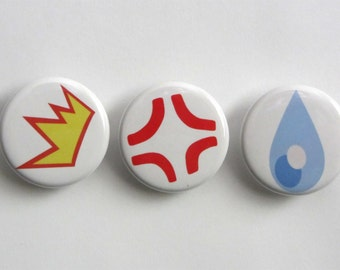 """Anime Expressions 1.25"""" Pinback Buttons"""
