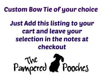 Custom fabric bow tie for dog/cat collars, pet bow tie, collar bow tie, wedding bow tie
