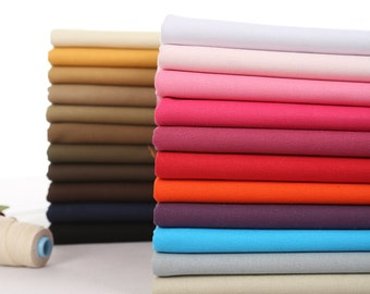 43 inch Width, Half Yard, 20oz Thick Solid Heavy Strong Various Colored Cotton Canvas Fabric