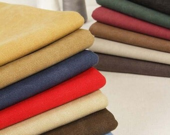 43 inch Width, Half Yard, Thick Strong Washed Cotton Canvas Bag Purse Fabric