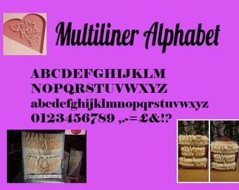 Book Folding Pattern - Full Multiliner Alphabet - Full Calculations & Instructions to make your own 2 liner or 3 liners
