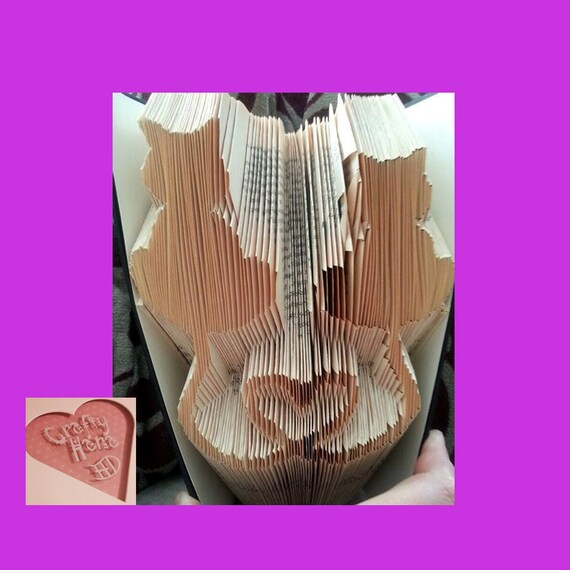 book folding pattern cat hearts 282 folds measure mark. Black Bedroom Furniture Sets. Home Design Ideas
