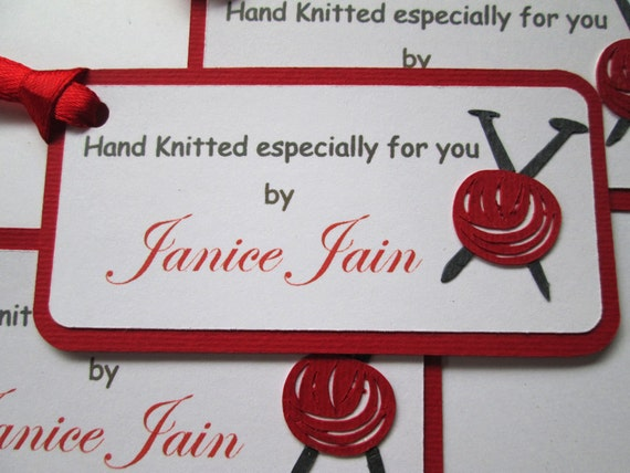 10 knitting gift tags hand knitted by knitting labels for Hand knit labels