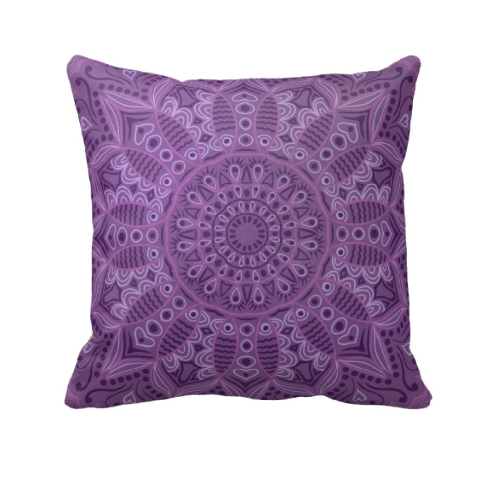 Boho purple throw pillow decorative throw pillows for Decor pillows