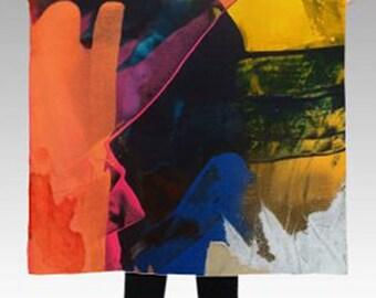 "Medium ""Bridges"" Abstract Painting Scarf"