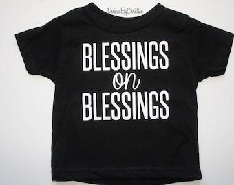 Boys Tee shirt. Boys Blessings On Blessings Tee Shirt