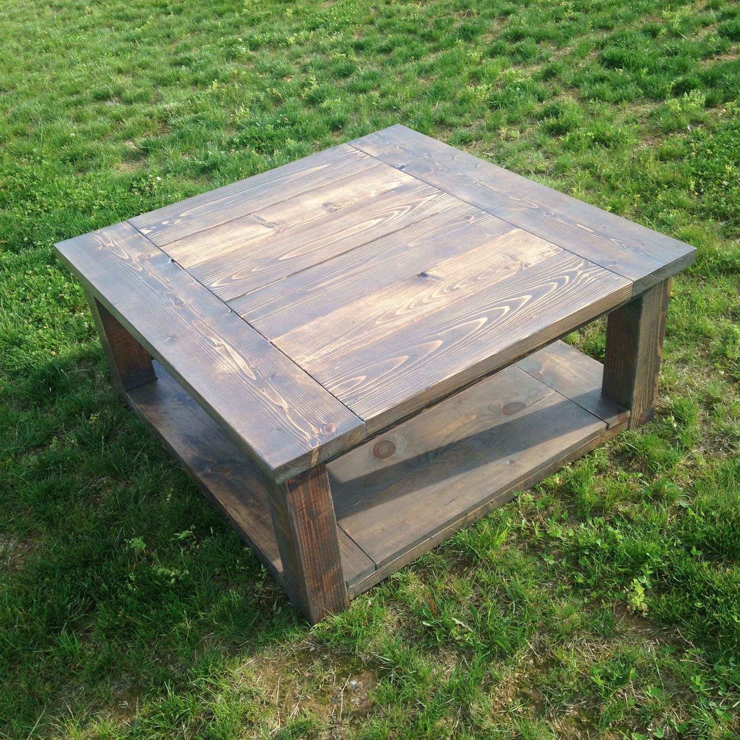 Square farmhouse coffee table Farm style coffee tables