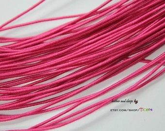 50 Yards 1mm Magenta Elastic String, 1mm Stretch Cords ES2532