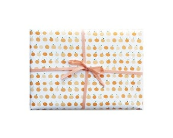 Orange Wrapping Paper, Orange Wrapping Sheets, Orange Gift Wrap, Oranges Gift Wrap, Oranges Wrapping Paper