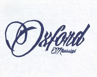 Oxford, Mississippi Print