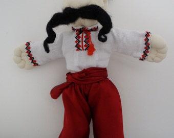 "Souvenir Ukraine Toy. Toy ""Ukraine cossak''. Ethnic doll."