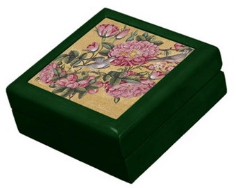 Keepsake Box - Exotic Camellias - Treasure Gift Box