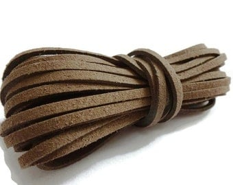 5mtrs Chocolate Faux Suede Cord