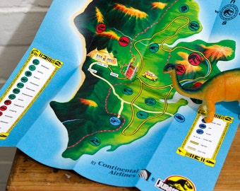 Jurassic Park Brochure Pamphlet - Includes ads and map