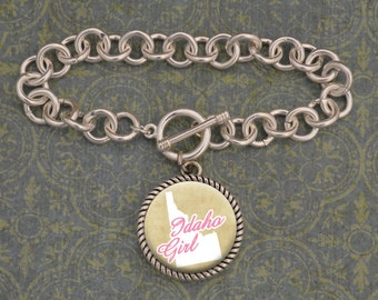 Idaho Girl Stuck On You Bracelet - SOY56067ID