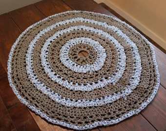 Crocheted Circle Floor Rug