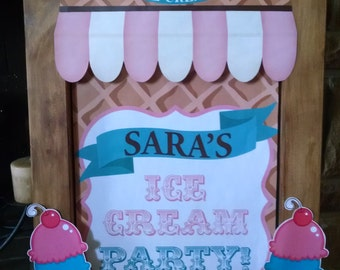Easel Ice Cream Party Sign
