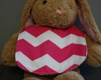 Pink Chevron Baby Gift Set Bib, Burp Cloth