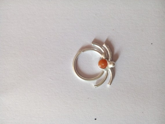 unique silver septum ring for pierced by gemstonebeadsfinding