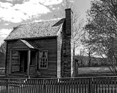 Olde House (Black & White) Instant Photo Download, Insta-Photo, Architecture Photography, Black and White, B/W, Cabin, Historic, Home