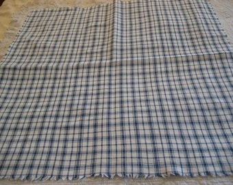 Early Blue and White Linen Homespun