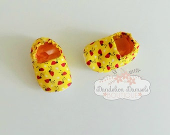 Ladybug Baby Slipper/Crib Shoes/Fabric Shoes/ Soft sole slippers