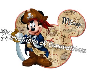 Disney Cruise Magnets for Door Decoration Magnet - Pirate Mickey