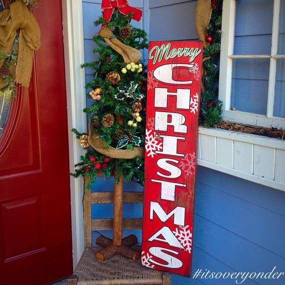 Distressed Rustic Wooden Porch Sign