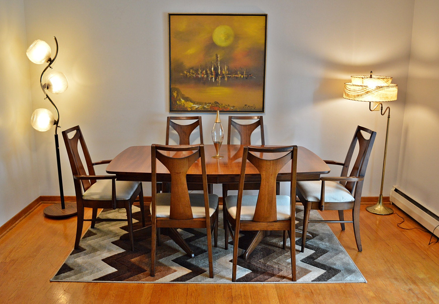 Mid Century Kent Coffey Perspecta Dining Table