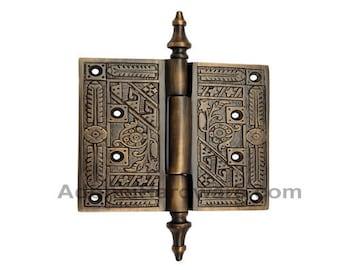 116mm x 111mm Brass Decorative Hinge