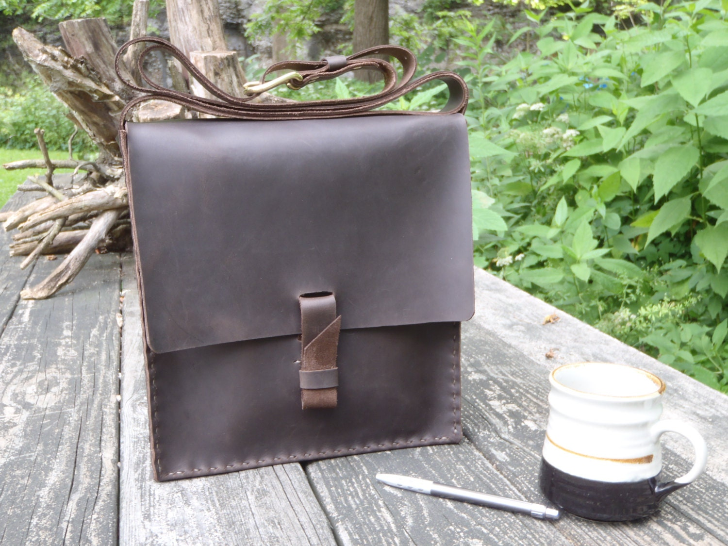 Leather Book Bags Leather Book Bag