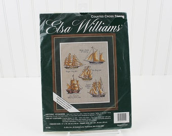 Historic Voyagers, Sailing Ships Counted Cross Stitch Kit, Elsa Williams, K110