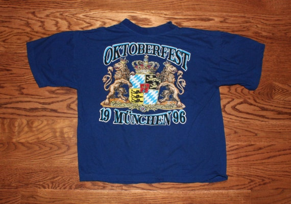 vintage 1996 oktoberfest m nchen shirt. Black Bedroom Furniture Sets. Home Design Ideas