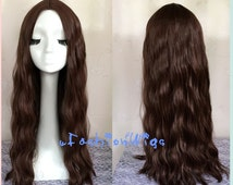 2015 New Arrival Avengers Age of Ultron Scarlet Witch Cosplay Wig, 80cm Long Chestnut Brown Wigs UF017