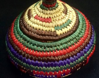 Gorgeous Alaska Native Grass Basket