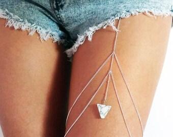 Carerra Thigh Chain - Silver Plated