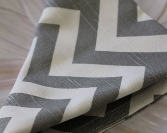 Gray Chevron Napkin