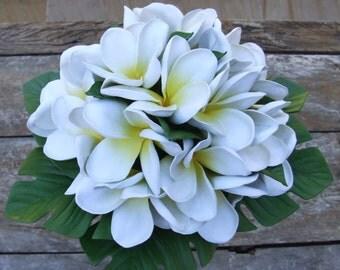 Frangiapani wedding bouquet - artificial