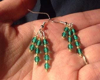 Teal is the deal - three tier earrings
