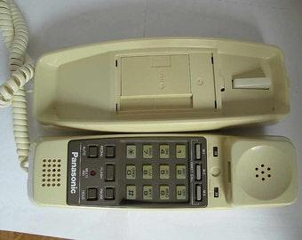 Rare 80s telephone. Panasonic Easa-Phone model KX-T2204, vintage push button phone, Panasonic wall phone, vintage phone, 80s phone