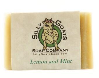 Lemon Soap, Lemon Bar Soap, Lemon Soap For Acne, homemade Lemon Soap, Lemon Mint Soap, Lemon Goat Milk Soap, Lemon Goats Milk Soap