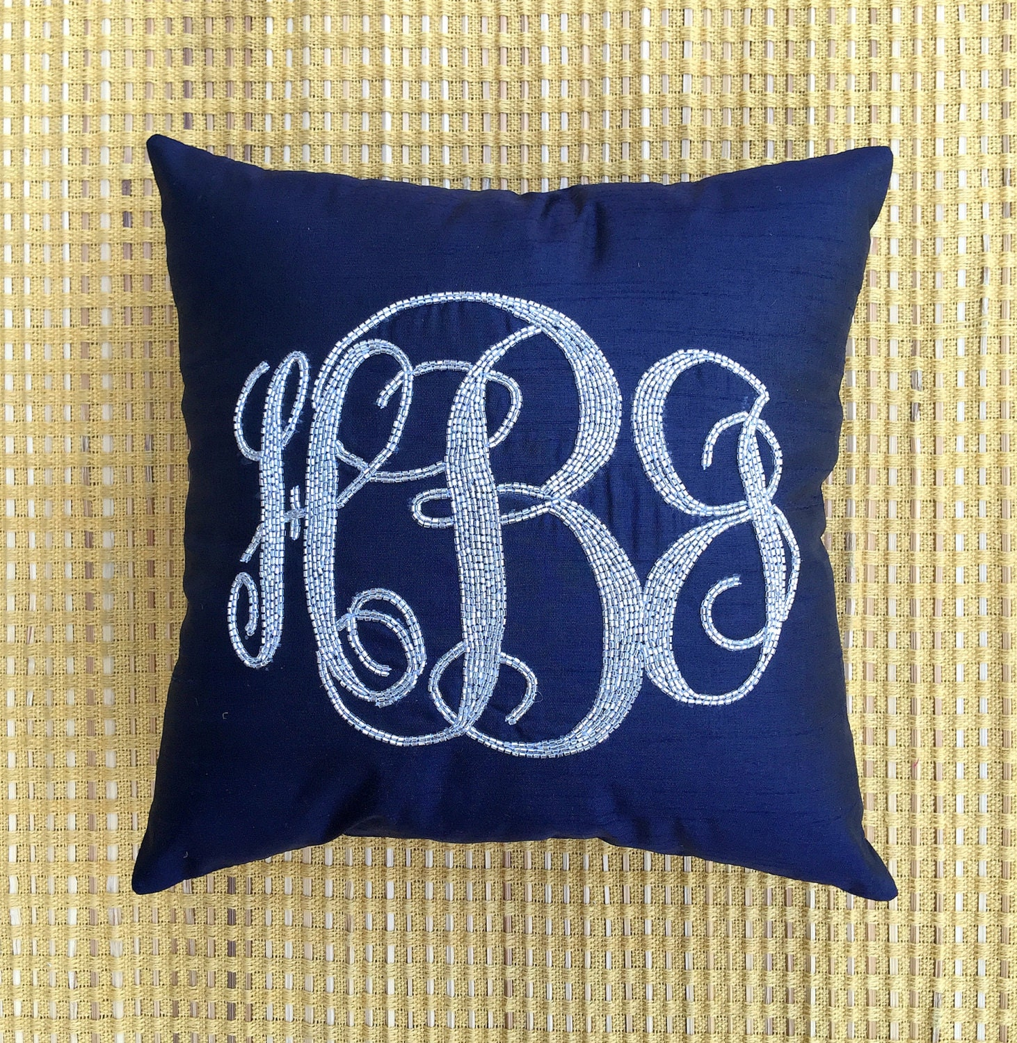 Decorative Pillows With Monogram : 30% OFF Monogram Pillow Sequin Decorative Pillow Personalized
