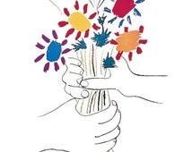 Articles populaires correspondant pablo picasso sur etsy for Picasso petite fleurs