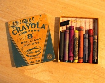 Vintage Crayola Jumbo Crayons in Box Binney & Smith