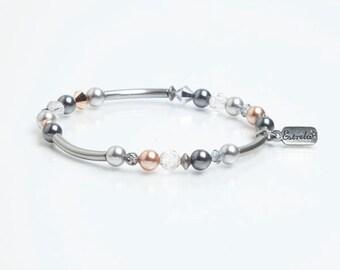 Delicate Swarovski Pearl and Crystal Bracelet