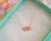 Rose Gold California State Bear Dainty Necklace, Women's Necklace, Danity Necklace, Minimalist Necklace, Bridesmaid Gift, BEST SELLER
