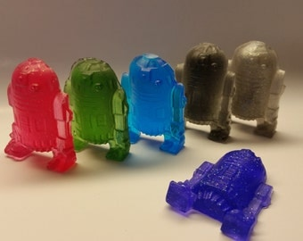 Star Wars Birthday Party - R2D2 Soap Party Favors Scented Cute Robot Shaped Kids Soaps Party Supplies  - Pack of 25