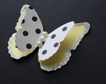 Summer Layered Butterflies Wedding Table Decoration / Bridal Shower/Party Decoration/Wall decor