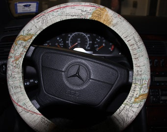 Atlas Road Map Wheel Cover . Australia Map Wheel Cover .Pacific Ocean Wheel Cover . Steering Wheel Cover .