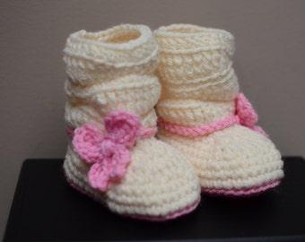Crochet Baby Boot, Crochet baby slouchy boot, Crochet baby slippers, Baby booties, Baby crochet boots, Baby slippers, Baby slouchy booties